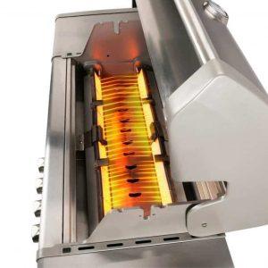 Keramiska brännare på Crossray Heatstrip Gasolgrill