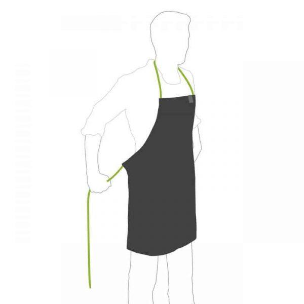 Tecknad bild på person som bär Höfats Grillförkläde