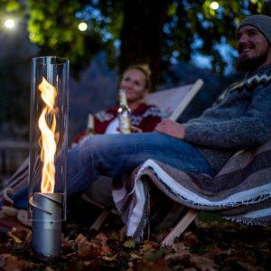 Höfats Spin Eldlykta brinner på campingutflykten