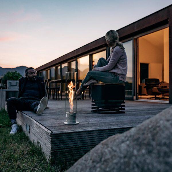Höfats Spin Eldlykta 120 grå på terrass