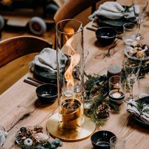 Höfats SPIN eldlykta 120 guld på julbord