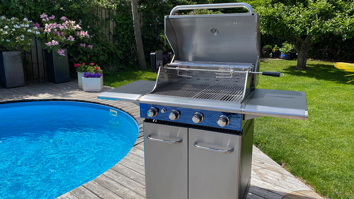 Bluegaz Z1 gasolgrill vid pool