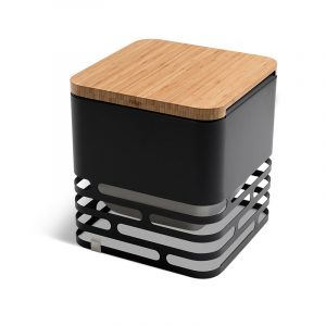 Höfats Cube Eldkorg & Kolgrill svart med bordsskiva