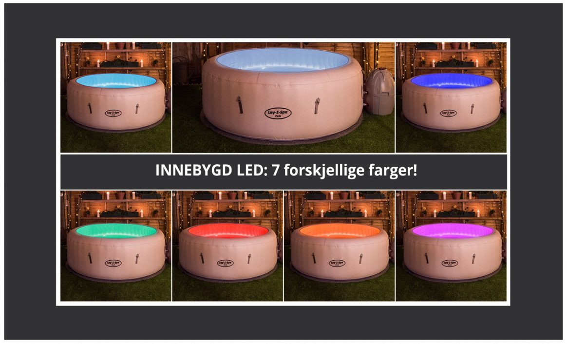 Led lys boblebad Paris AirJet