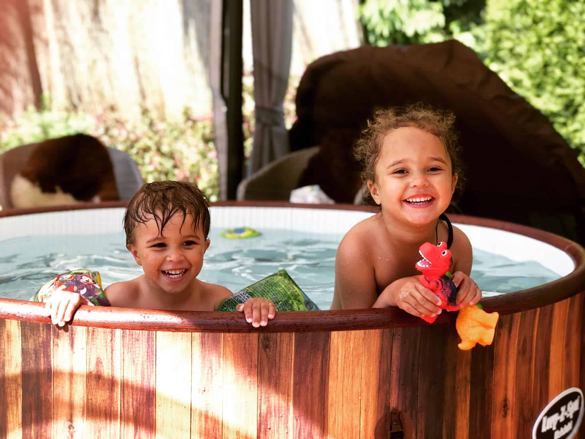 Et rent og pent boblebad gir best opplevelse for barna.