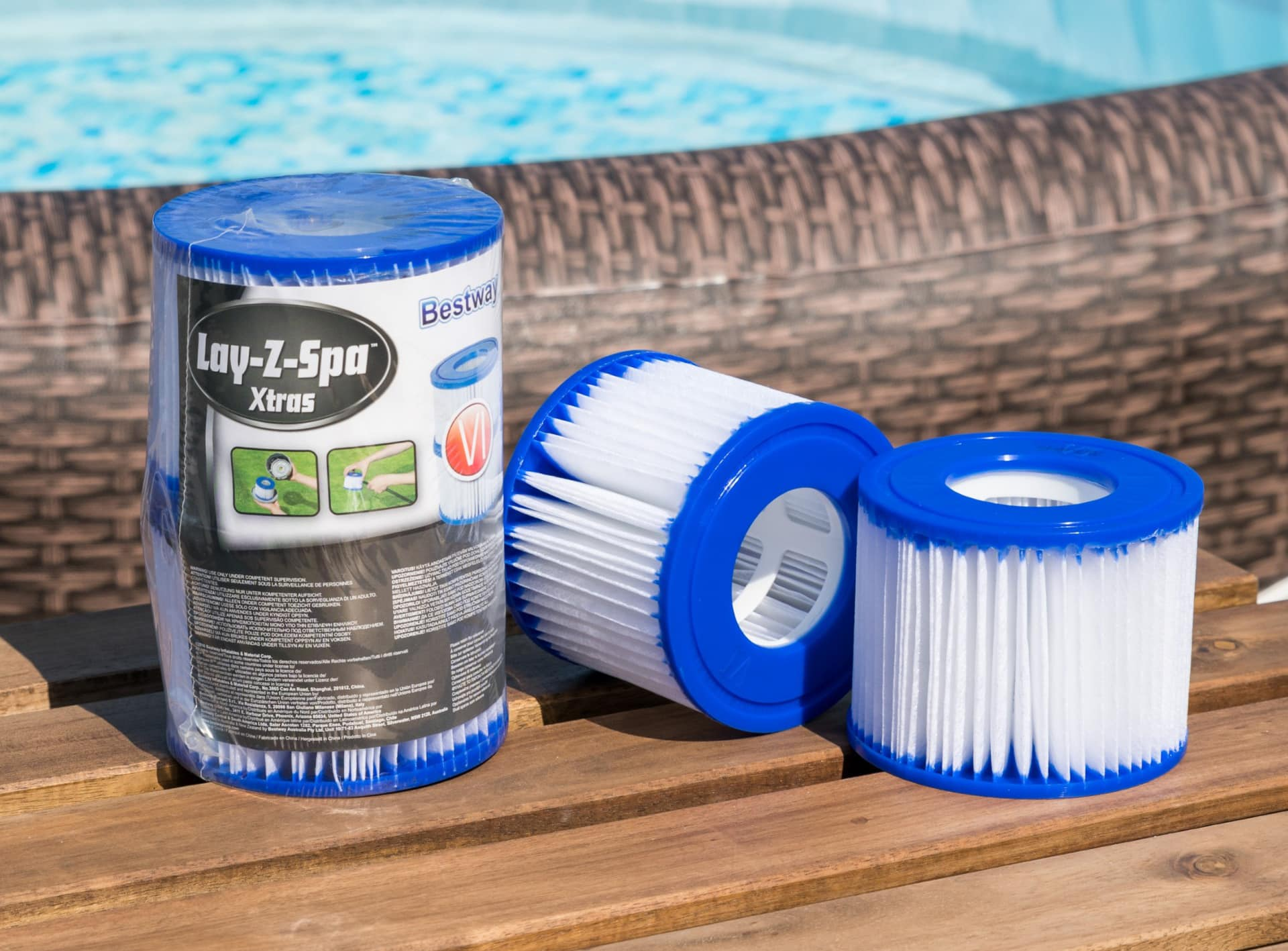 Lay-Z-Spa filter rens