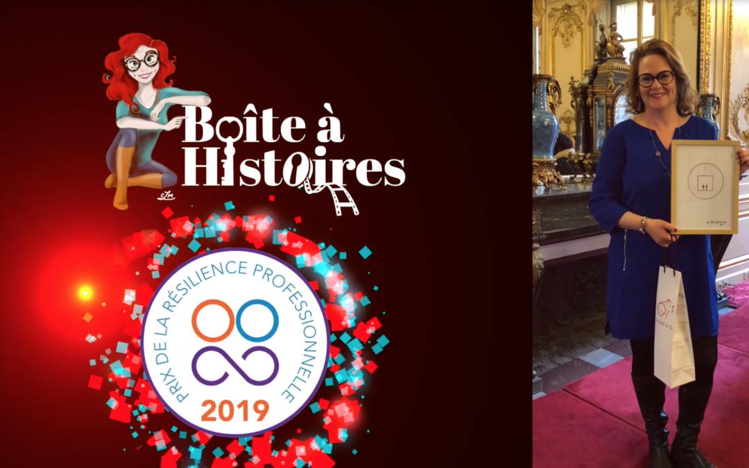 Boîte à Histoires a remporté le PRIX DE LA RÉSILIENCE PROFESSIONNELLE