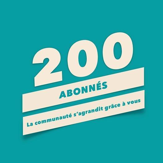 200 abonnés