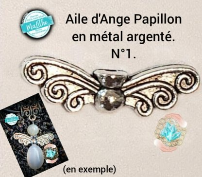 Aile d'ange personnalisée N° 1 papillon création MaLitho de chez Bijoux, pierres et bien-être