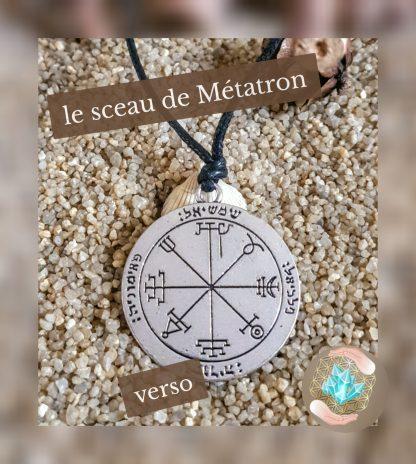 pendentif argenté sceau de l' Archange Métatron, Bijoux, pierre et bien-être (3)