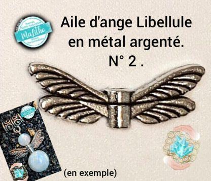Aile d'ange personnalisée N° 2 LIBELLULE création MaLitho de chez Bijoux, pierres et bien-être