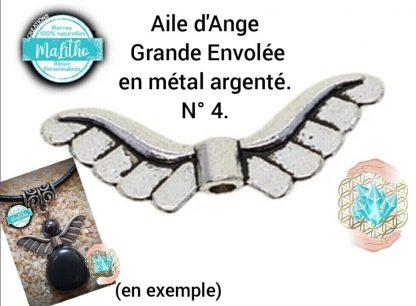 Aile d'ange personnalisée N° 4 Grande envolée création MaLitho de chez Bijoux, pierres et bien-être