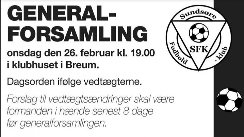 Generalforsamling 2020, Sundsøre FK