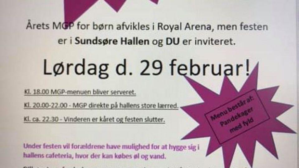 MGP fest i Sundsøre Hallen 29/2-2020