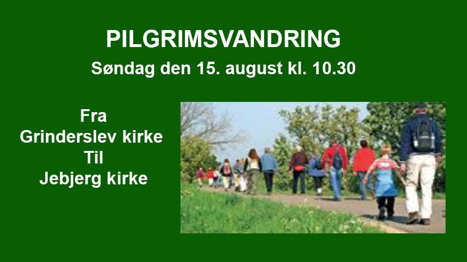 Pilgrimsvandring – Grinderslev / Jebjerg
