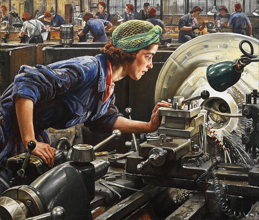 Laura Knight 1943 Ruby Loftus screwing a Breech-ring