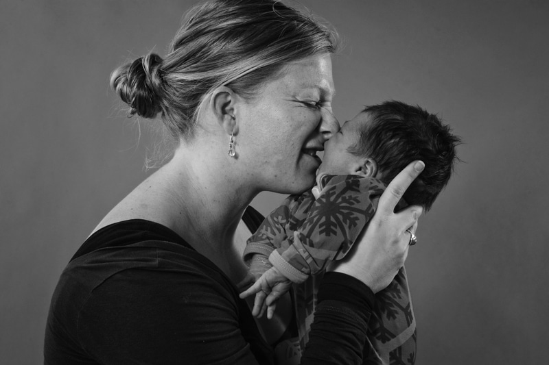 Babyfotografering hos professionel fotograf.