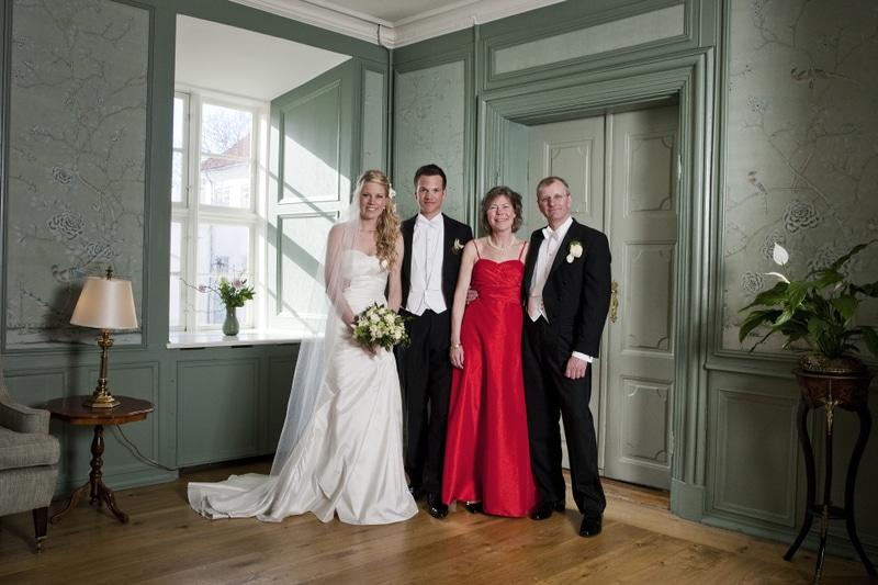 Bryllupsfotografering på Dragsholm Slot.