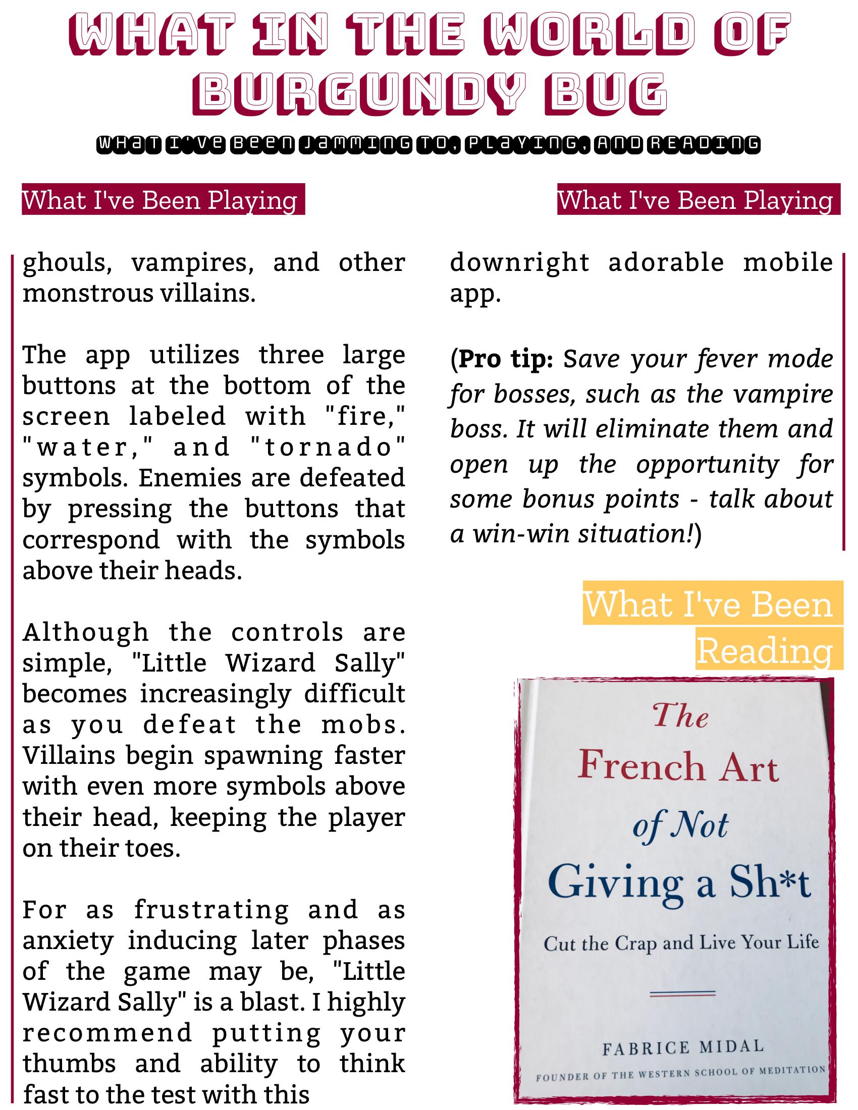 The Burgundy Zine #5: Culture Pg. 132