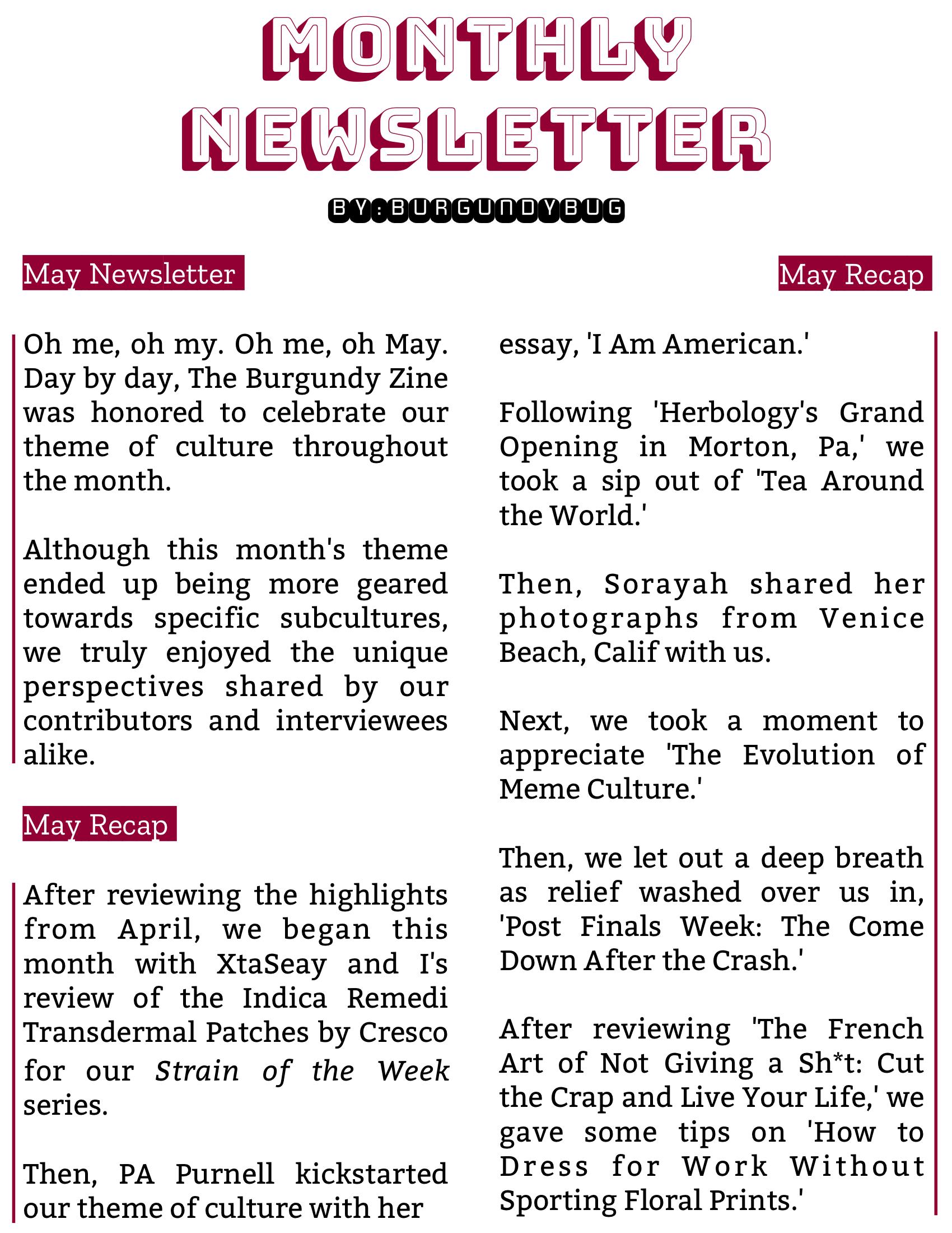The Burgundy Zine #5: Culture Pg. 141