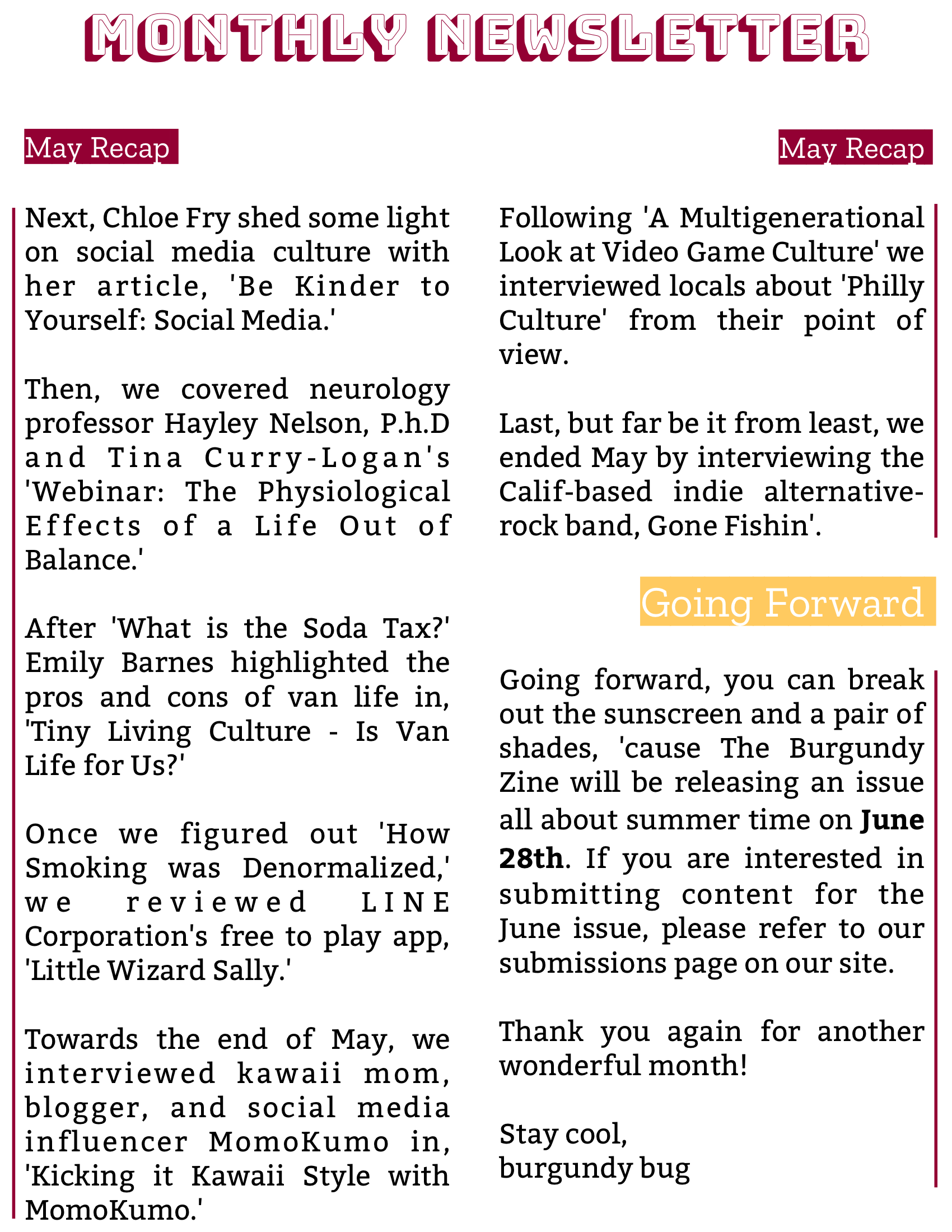 The Burgundy Zine #5: Culture Pg. 142