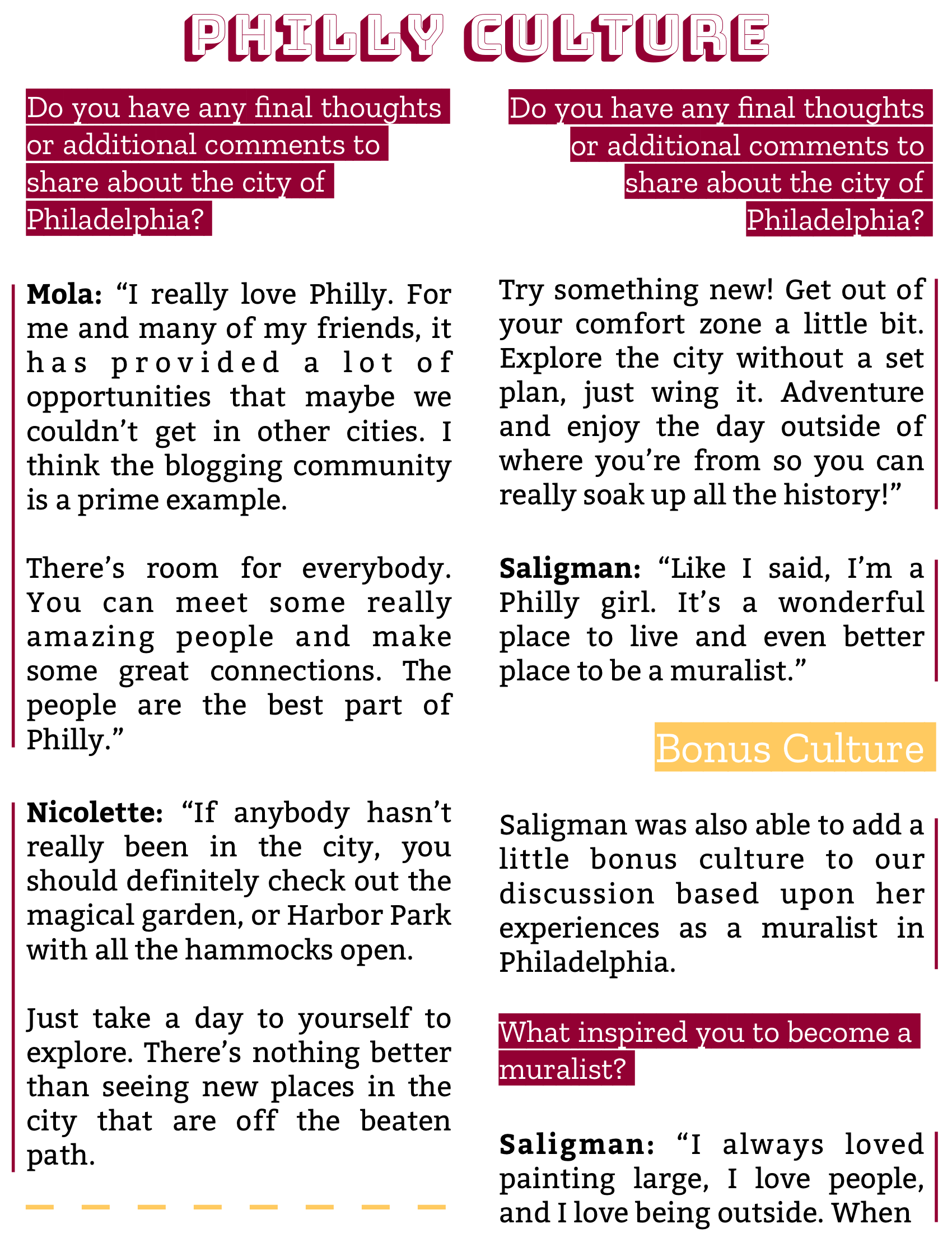 The Burgundy Zine #5: Culture Pg. 19