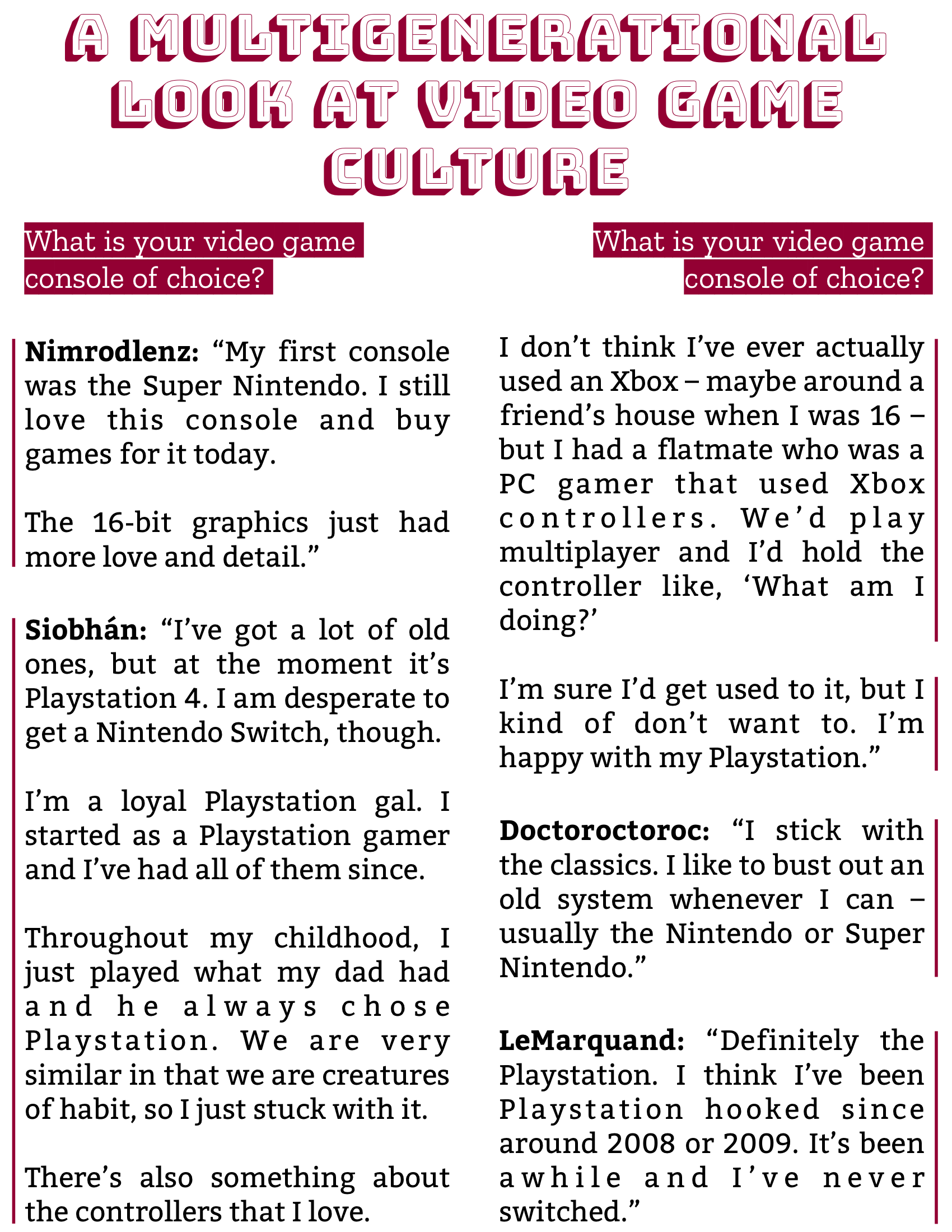 The Burgundy Zine #5: Culture Pg. 86