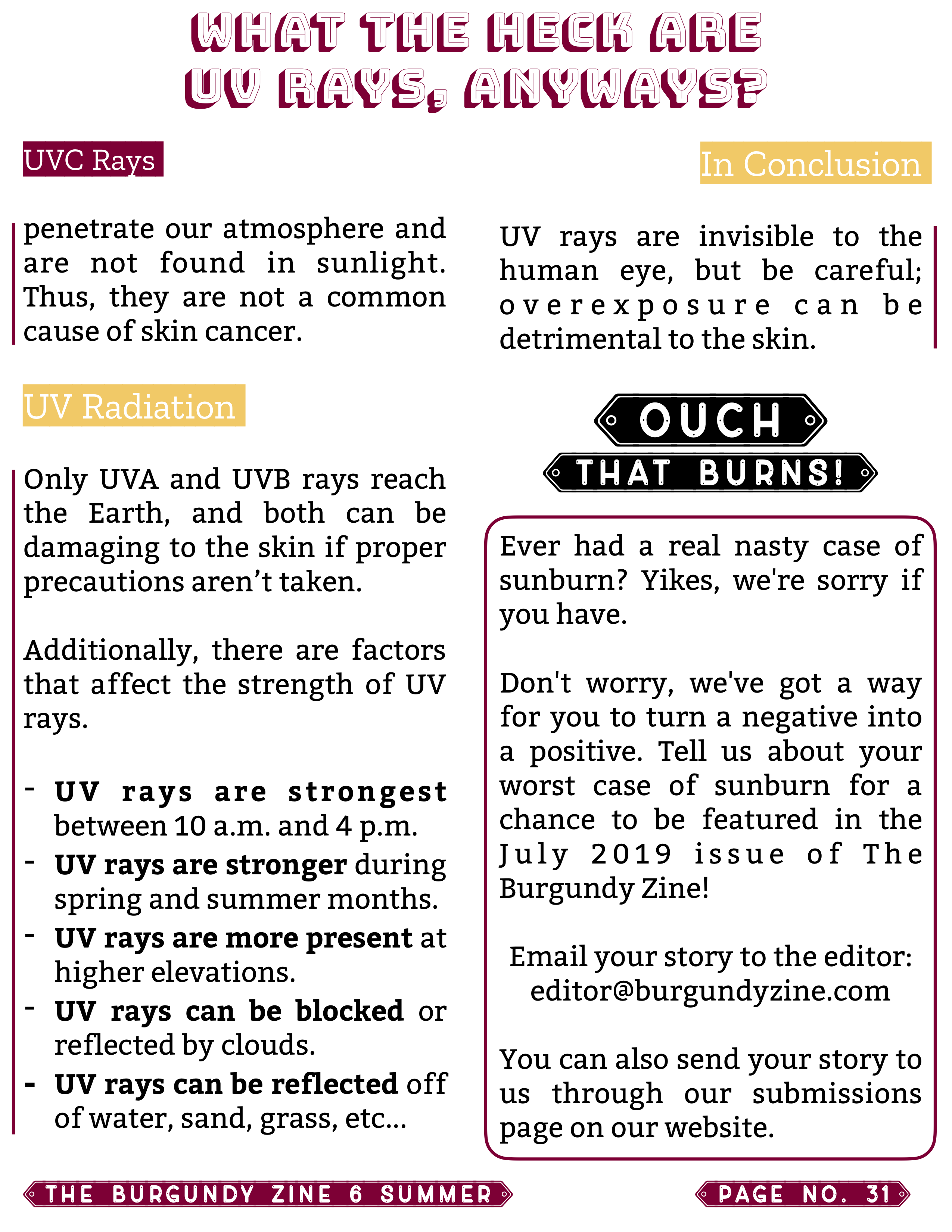 The Burgundy Zine #6: Summer Pg. 31
