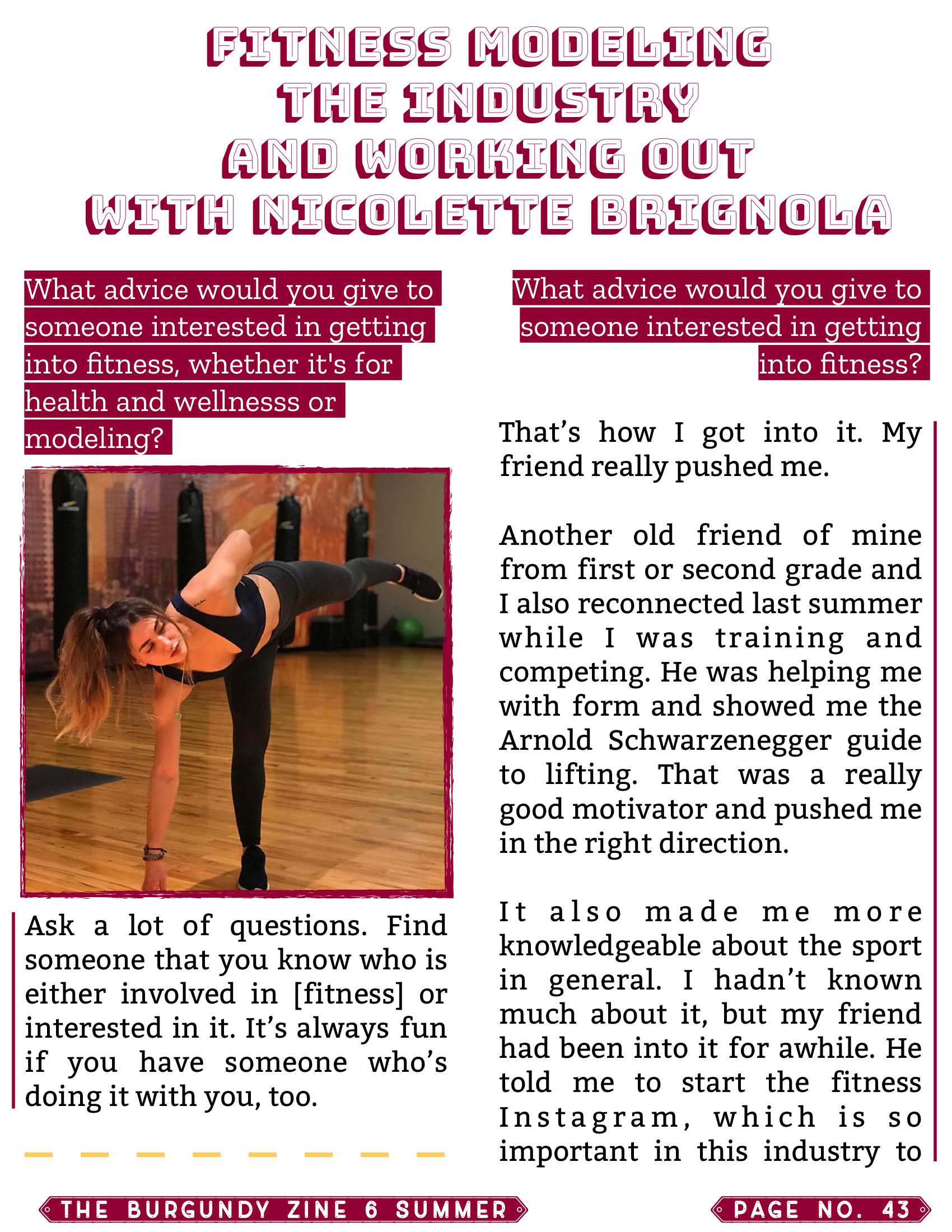 The Burgundy Zine #6: Summer Pg. 43