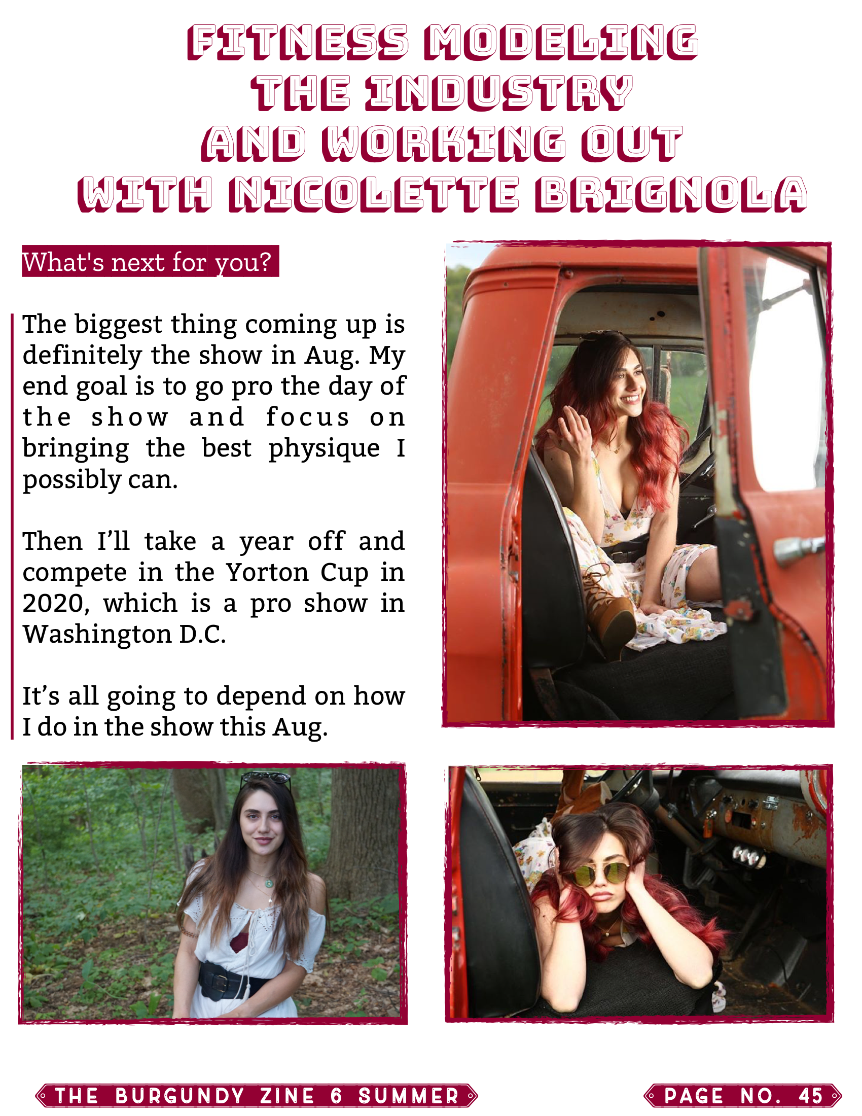The Burgundy Zine #6: Summer Pg. 45
