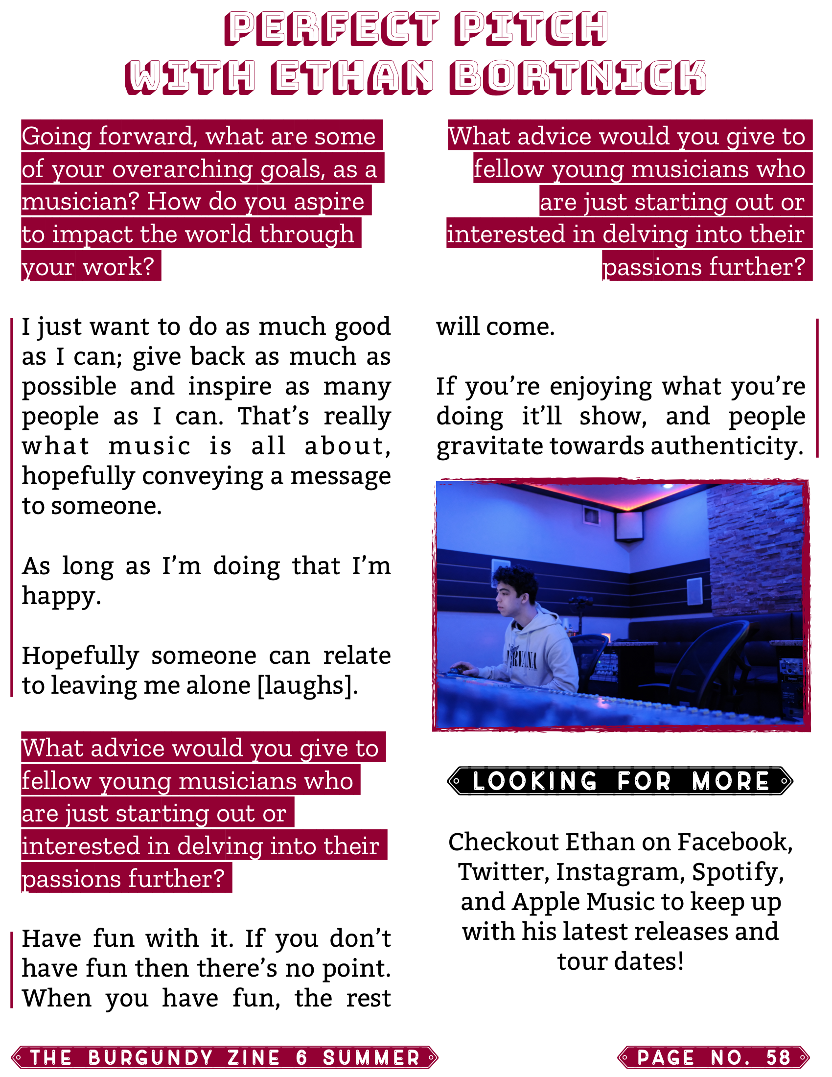 The Burgundy Zine #6: Summer Pg. 58