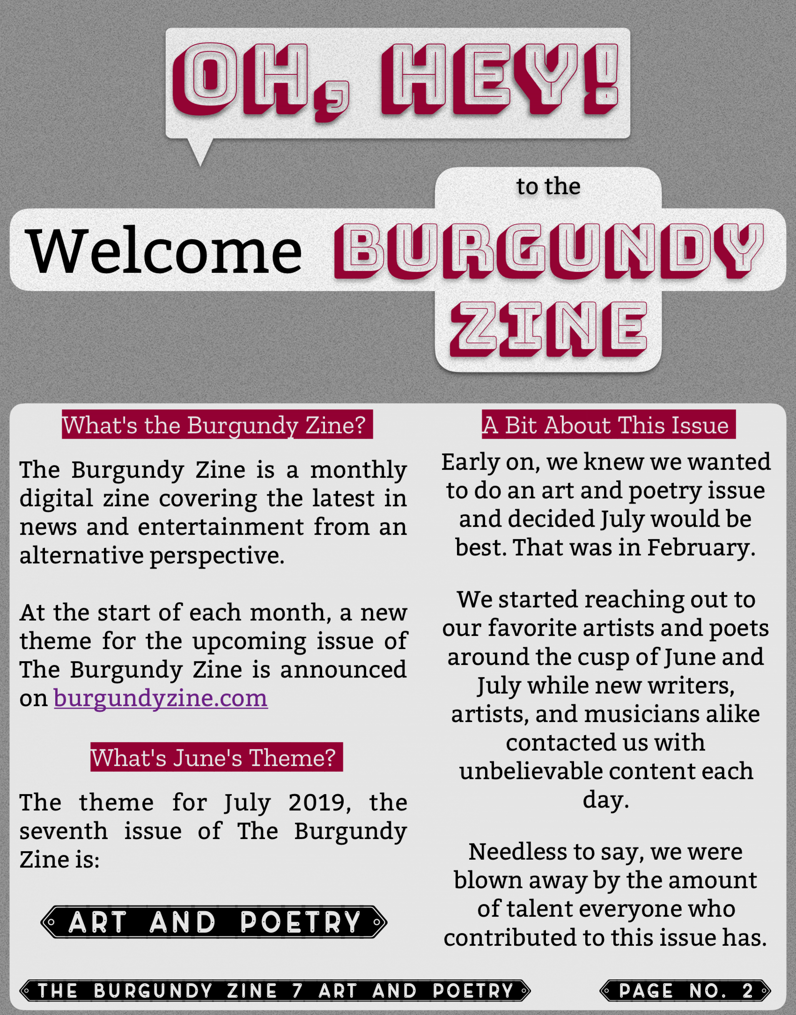 The Burgundy Zine #7 Art and Poetry 002