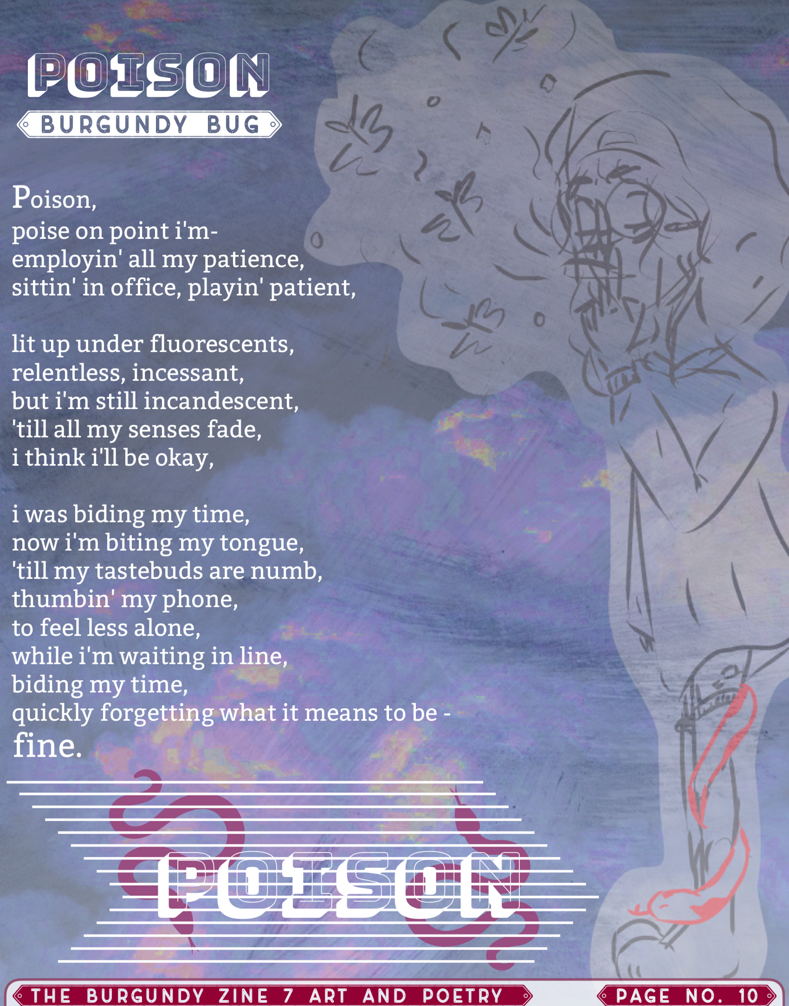 The Burgundy Zine #7 Art and Poetry 010