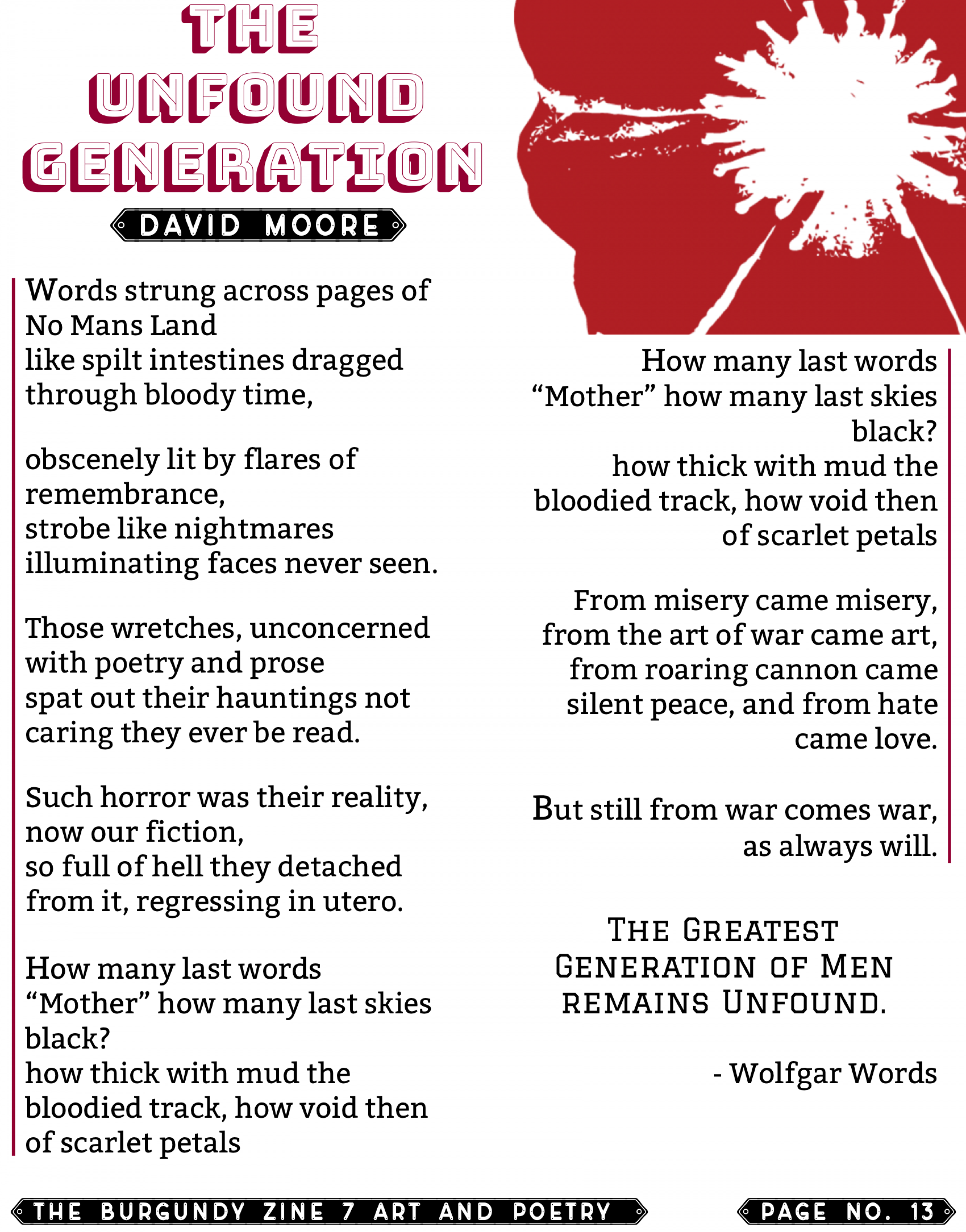 The Burgundy Zine #7 Art and Poetry 013