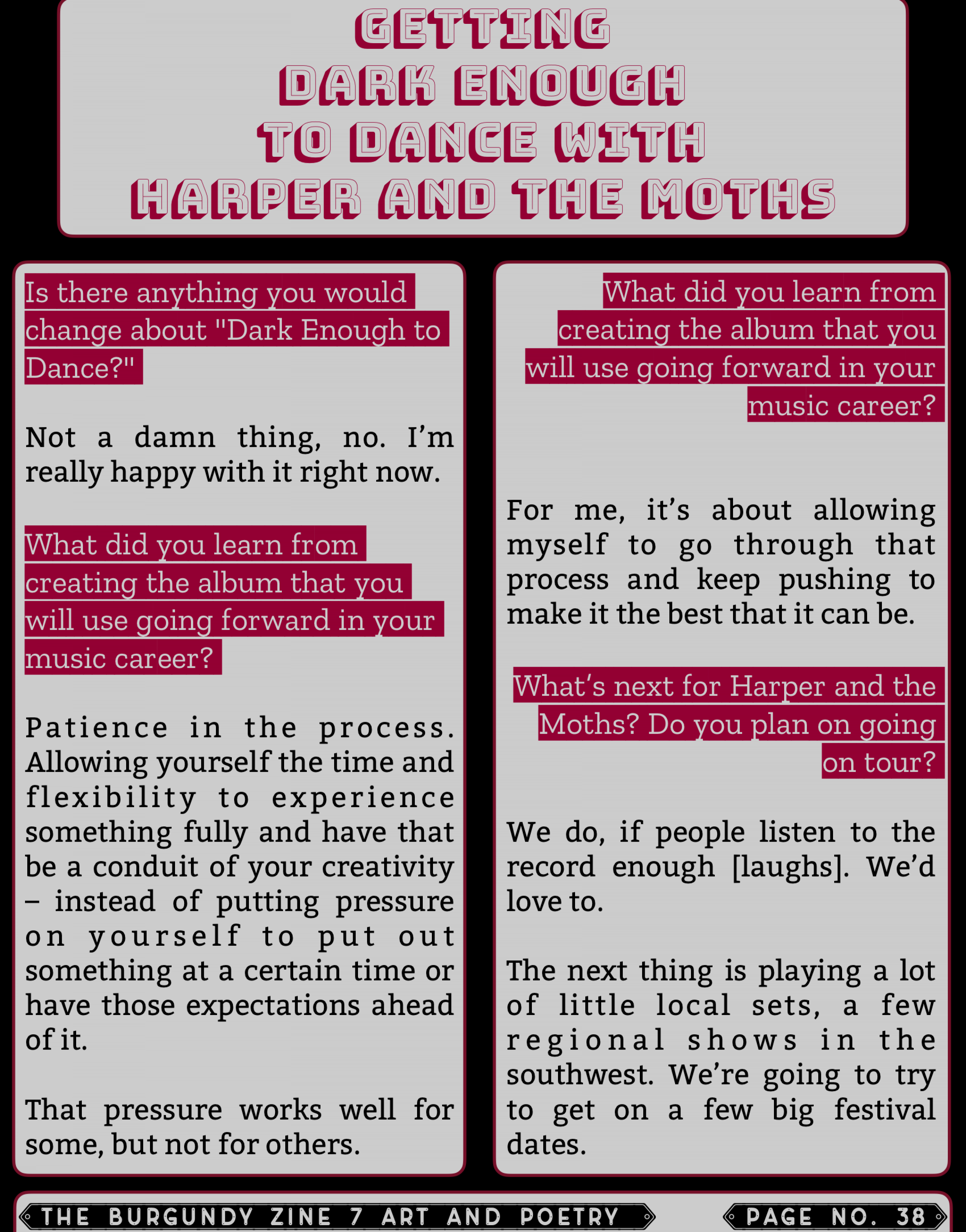 The Burgundy Zine #7 Art and Poetry 038