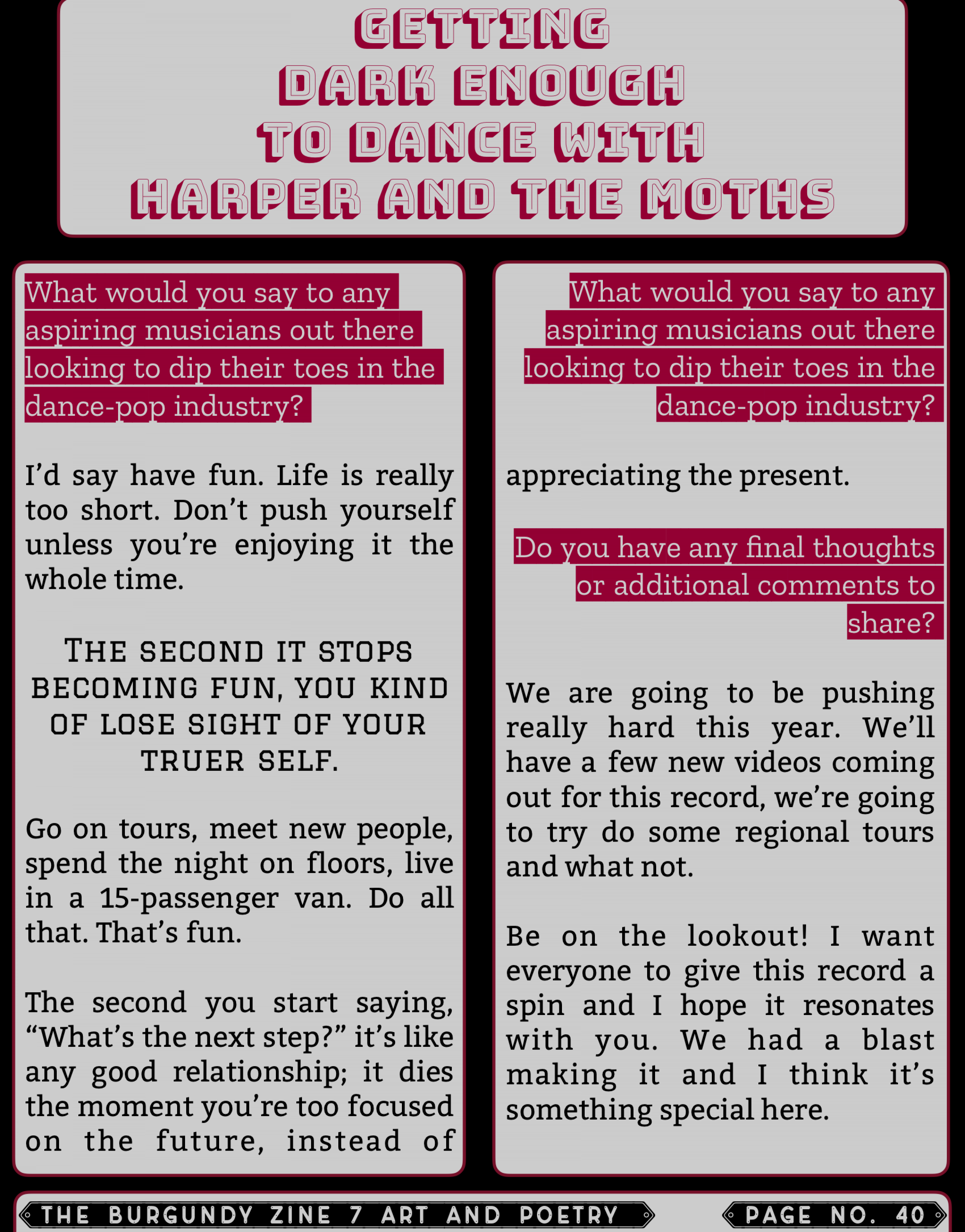 The Burgundy Zine #7 Art and Poetry 040