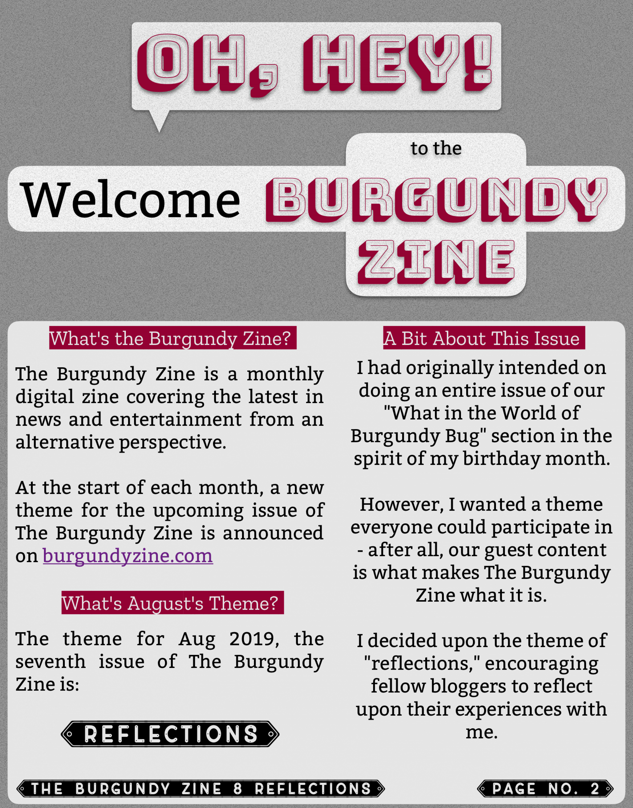 The Burgundy Zine #8 Reflections 002
