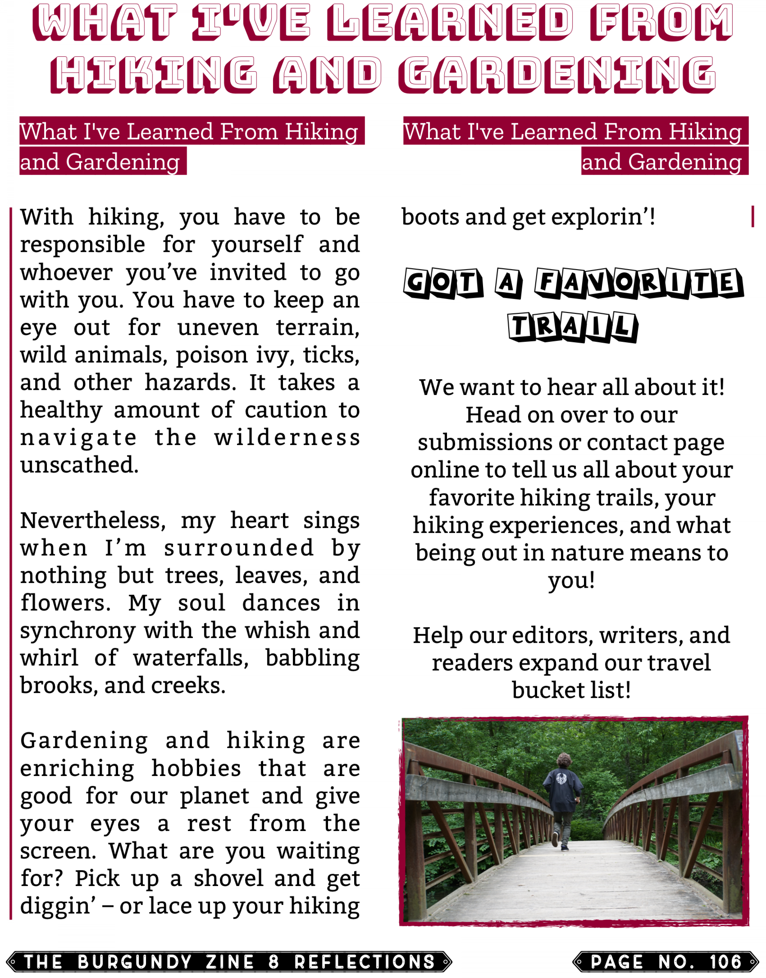 The Burgundy Zine #8 Reflections 106