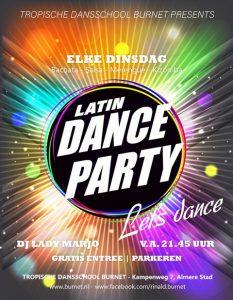 Elke dinsdag Let's dance latin social