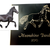 Exempel häst svartlackad mässing