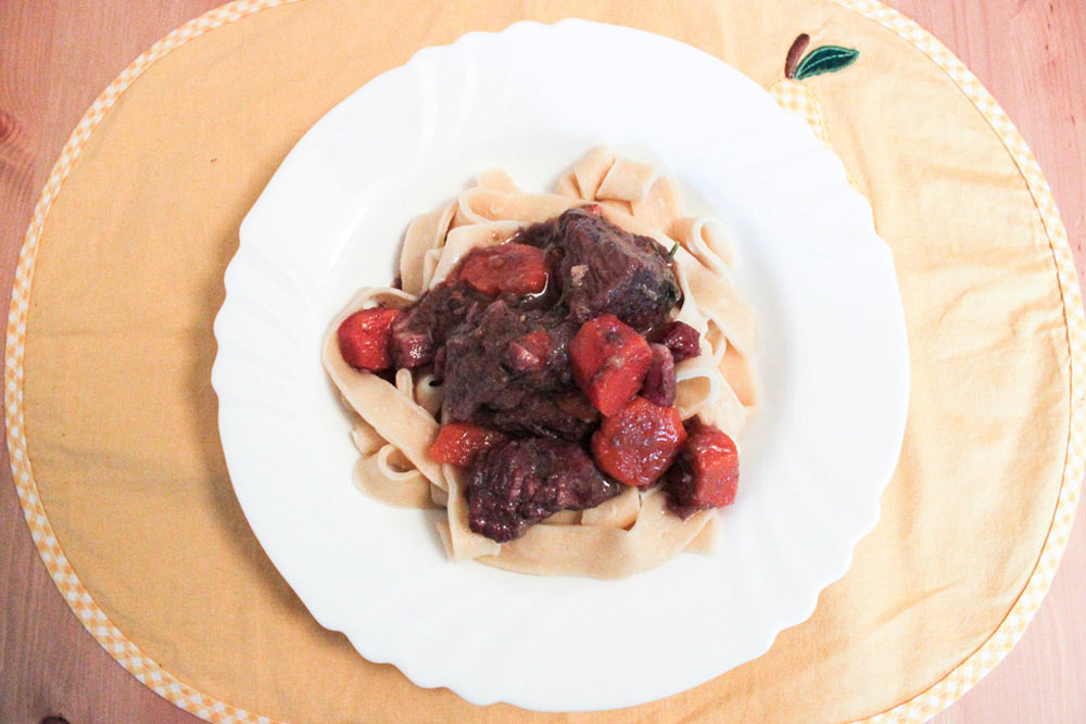 Boeuf bourguignon plate