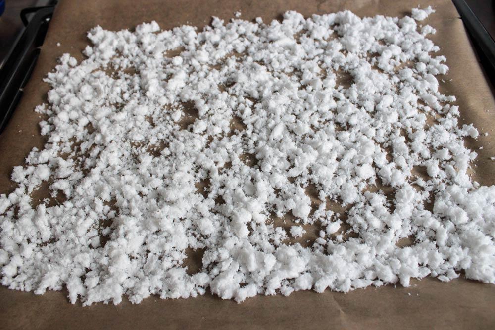 Kokosová dužina na sušenie