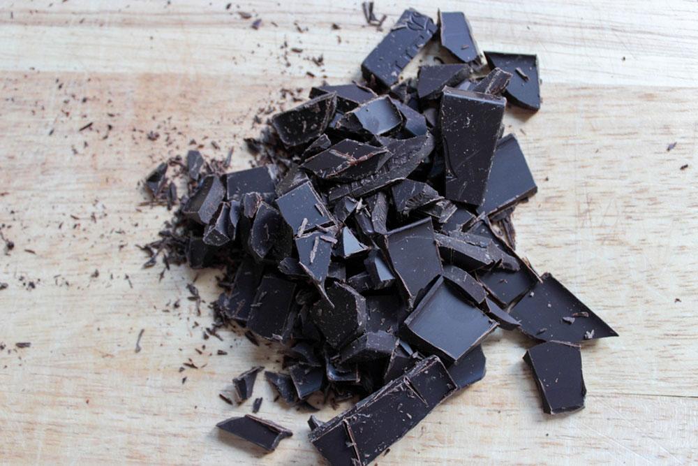 Nasekaná čokoláda