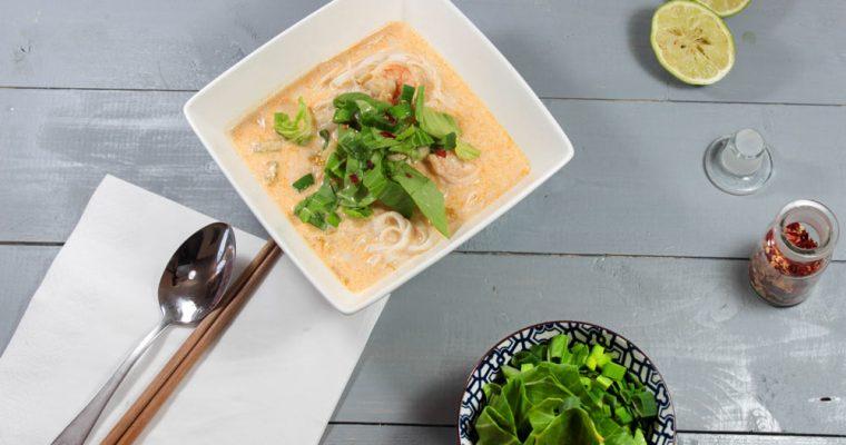 Krevetová polievka s kokosovým mliekom