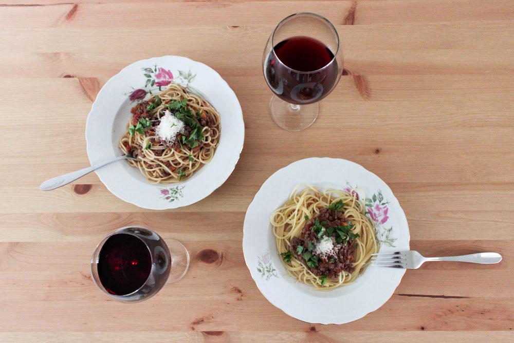 Špagety s bolonskou omáčkou