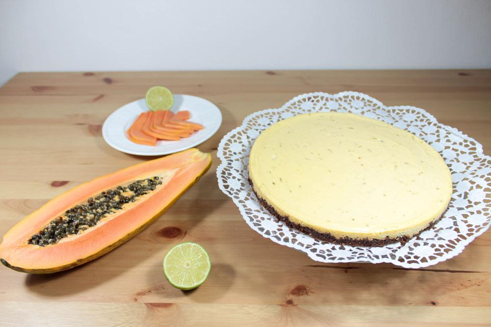 Papája a mangová torta