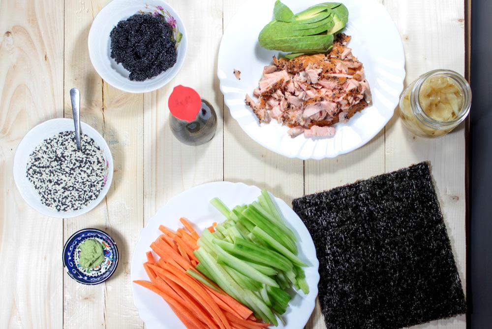 Ingrediencie na sushi