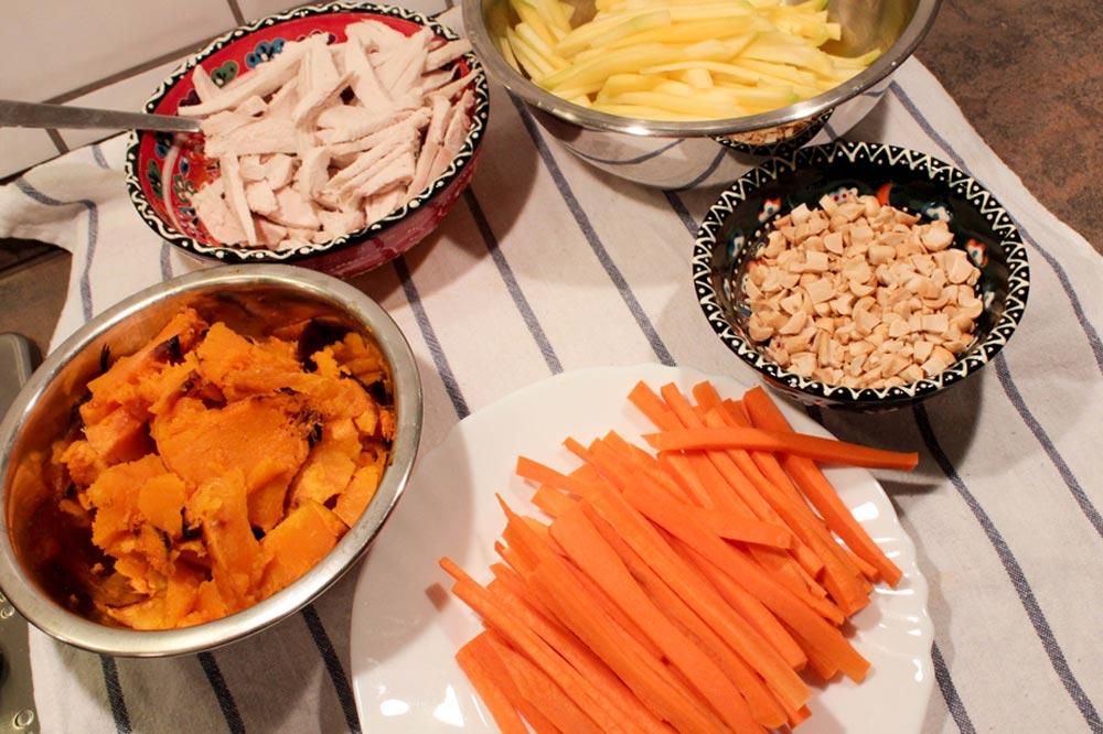 Ingredients for spring rolls