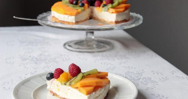 Ovocná tvarohová torta