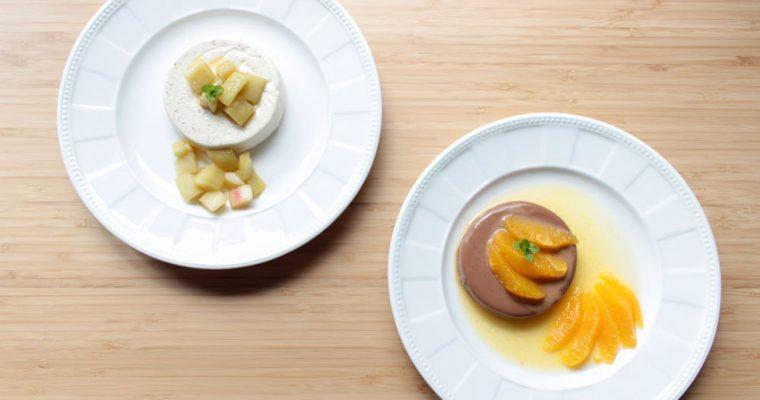 Panna cotta – vanilková a čokoládová
